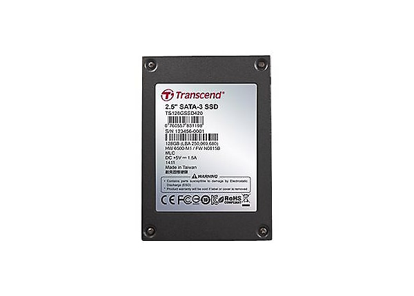 Transcend SSD420I Industrial - Iron case - solid state drive - 512 GB - SAT