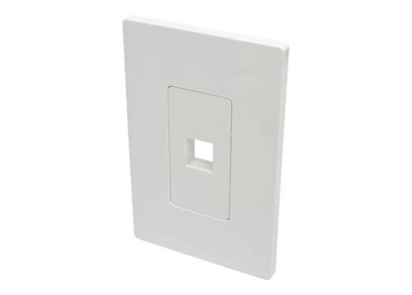Tripp Lite Single-Gang 1-Port Wallplate Keystone Cat5/6 USB/HDMI/DP/RCA TAA
