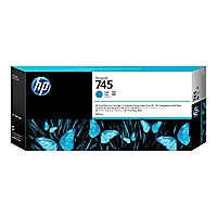 HP 745 - High Capacity - cyan - original - DesignJet - ink cartridge