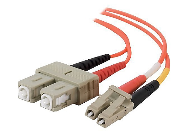C2G LC-SC 62.5/125 OM1 Duplex Multimode PVC Fiber Optic Cable (LSZH) - patc
