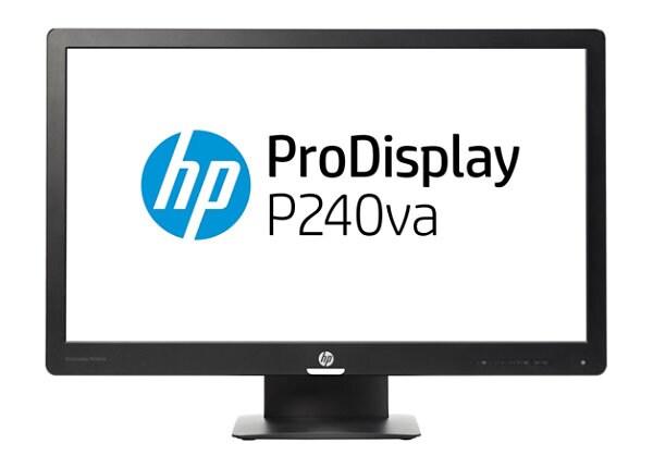 "HP ProDisplay P240va - LED monitor - Full HD (1080p) - 23.8"""