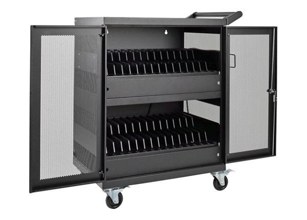 Tripp Lite 32-Port AC Charging Cart Storage Station Chromebook Laptops