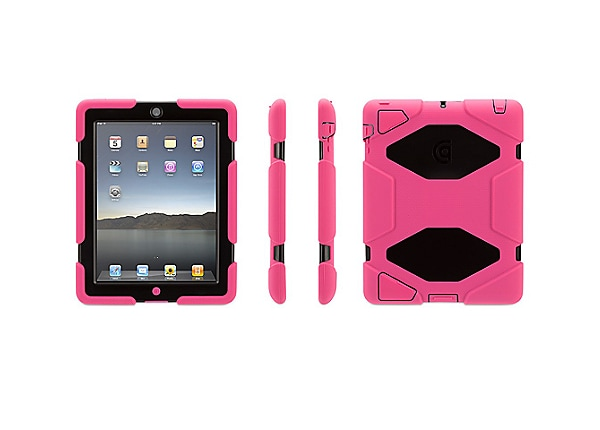 Griffin Survivor All-Terrain Case w/Stand for iPad 2/3/4 gen (Pink/Black)