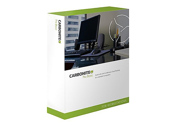Carbonite Pro Basic for Business - subscription license renewal (1 year) -