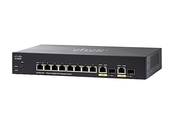 Cisco Small Business SG350-10P - commutateur - 10 ports - Géré