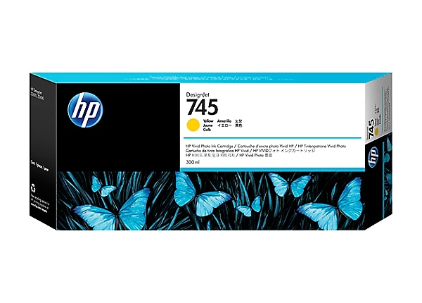 HP 745 - High Capacity - yellow - original - DesignJet - ink cartridge
