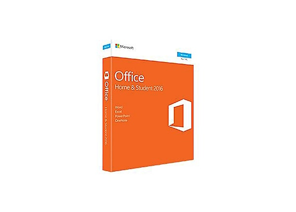 microsoft office home and student 2016 box pack 1 pc 79g 04589 software media kits. Black Bedroom Furniture Sets. Home Design Ideas