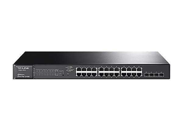 TP-Link JetStream T1600G-28PS - switch - 24 ports - smart - rack-mountable
