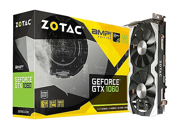 ZOTAC GeForce GTX 1060 - AMP! Edition - graphics card - GF GTX 1060 - 6 GB