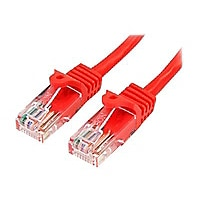 StarTech.com Cat5e Ethernet Cable 2 ft Red - Cat 5e Snagless Patch Cable