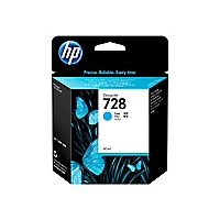 HP 728 - cyan - original - DesignJet - ink cartridge