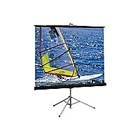Draper Diplomat/R HDTV Format - projection screen with tripod - 76 in ( 76