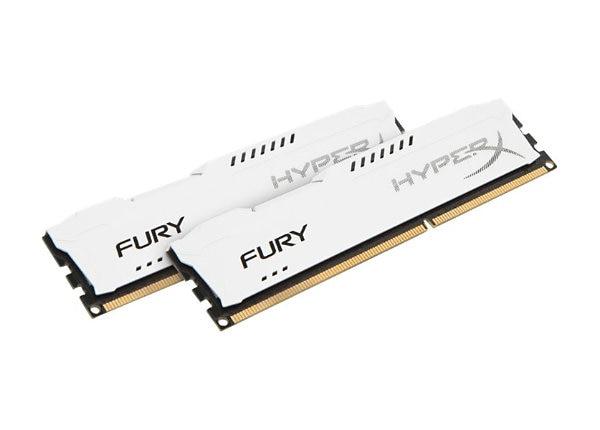 HyperX FURY - DDR3 - kit - 8 GB: 2 x 4 GB - DIMM 240-pin - unbuffered