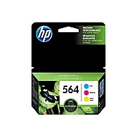 HP 564 Combo Pack - 3-pack - yellow, cyan, magenta - original - ink cartrid