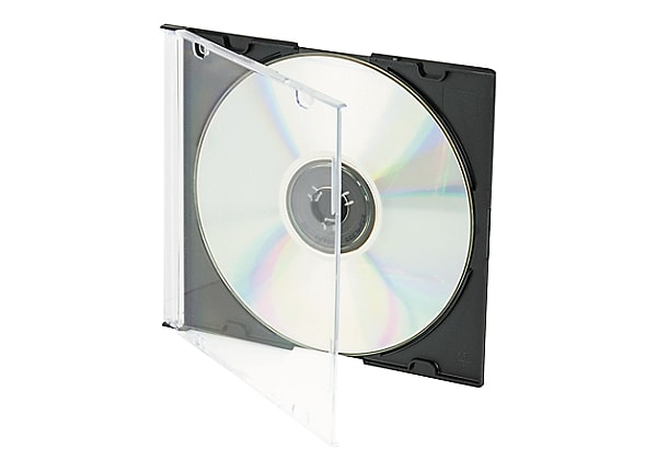 Innovera Thin Line Polystyrene CD/DVD Storage Case - storage CD/DVD slim je