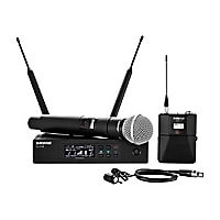 Shure Handheld and Lavalier Combo Wireless Mic System