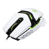Kaliber Gaming FOKUS Pro Laser Gaming Mouse - mouse - USB - imperial white