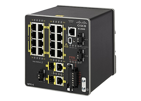 Cisco Industrial Ethernet 2000 Series - switch - 18 ports - managed