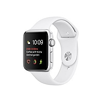 Apple Watch Series 1 - silver aluminum - smart watch with sport band white