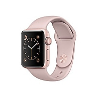 Apple Watch Series 2 - rose gold aluminum - smart watch with sport band pin
