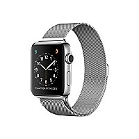 Apple Watch Series 2 - stainless steel - smart watch with milanese loop sil