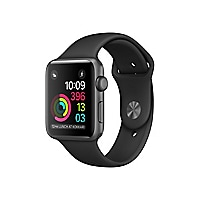 Apple Watch Series 1 - space gray aluminum - smart watch with sport band bl