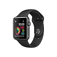 Apple Watch Series 2 - space gray aluminum - smart watch with sport band bl
