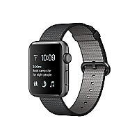 Apple Watch Series 2 - space gray aluminum - smart watch with band black