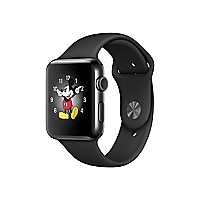 Apple Watch Series 2 - stainless steel - smart watch with sport band black