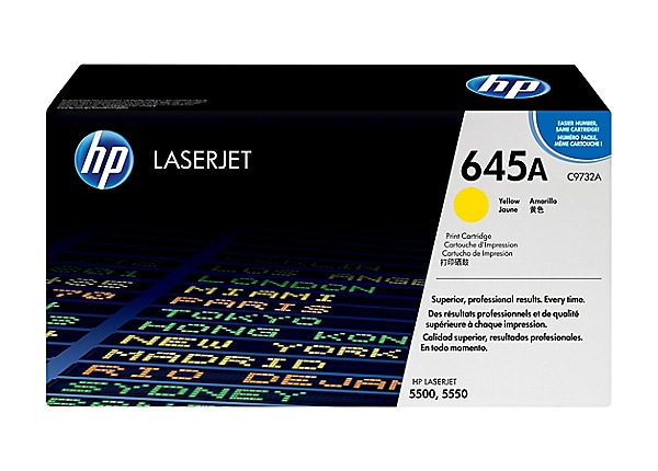 HP Color LaserJet C9732A Yellow Toner Cartridge w/Smart Printing Technology