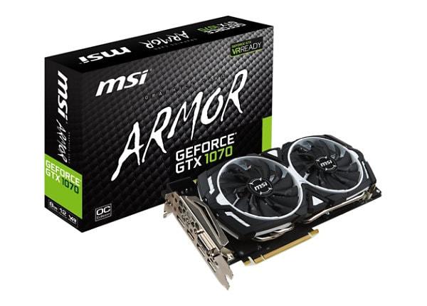 MSI GTX 1070 ARMOR 8G OC - graphics card - GF GTX 1070 - 8 GB