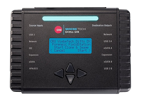 WiebeTech Ditto DX Forensic FieldStation - hard drive / USB drive duplicato