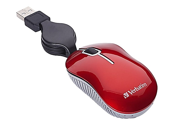 Verbatim Mini Travel Mouse Commuter Series - mouse - USB - red