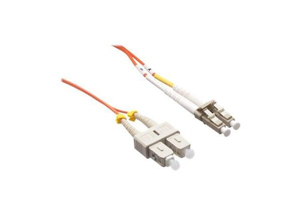 Axiom LC-SC Multimode Duplex OM2 50/125 Fiber Optic Cable - 6m - Orange - n