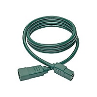 Tripp Lite Heavy Duty Power Extension Cord 15A 14 AWG C14 to C13 Green 6'