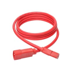 Tripp Lite Heavy Duty Power Extension Cord 15A 14 AWG C14 to C13 Red 6' 6ft