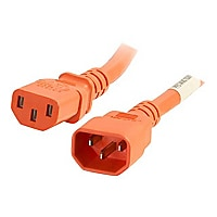 C2G 5ft 18AWG Power Cord (IEC320C14 to IEC320C13) - Orange - power cable -