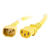 C2G 5ft 18AWG Power Cord (IEC320C14 to IEC320C13) - Yellow - power cable -