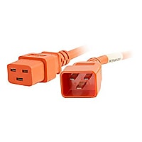 C2G 1ft 12AWG Power Cord (IEC320C20 to IEC320C19) - Orange - power cable -