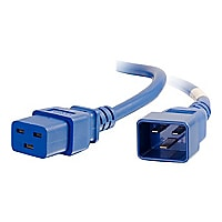 C2G 2ft 12AWG Power Cord (IEC320C20 to IEC320C19) - Blue - power cable - TA