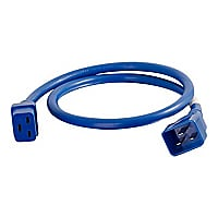 C2G 4ft 12AWG Power Cord (IEC320C20 to IEC320C19) - Blue - power cable - TA