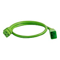 C2G 5ft 12AWG Power Cord (IEC320C20 to IEC320C19) - Green - power cable - 1
