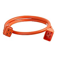 C2G 10ft 12AWG Power Cord (IEC320C20 to IEC320C19) - Orange - power cable -