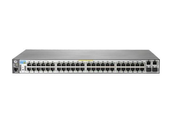 HPE Aruba 2620-48-PoE+ - switch - 48 ports - managed - rack-mountable