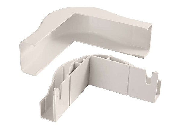 C2G Wiremold Uniduct 2900 Bend Radius Compliant External Elbow - Fog White