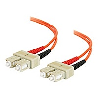 C2G 8m SC-SC 50/125 OM2 Duplex Multimode PVC Fiber Optic Cable - Orange - p
