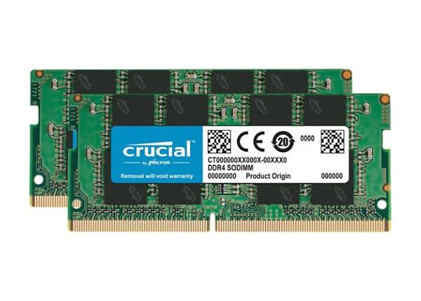 Crucial - DDR3 - kit - 16 GB: 2 x 8 GB - SO-DIMM 204-pin - 1866 MHz / PC3-1