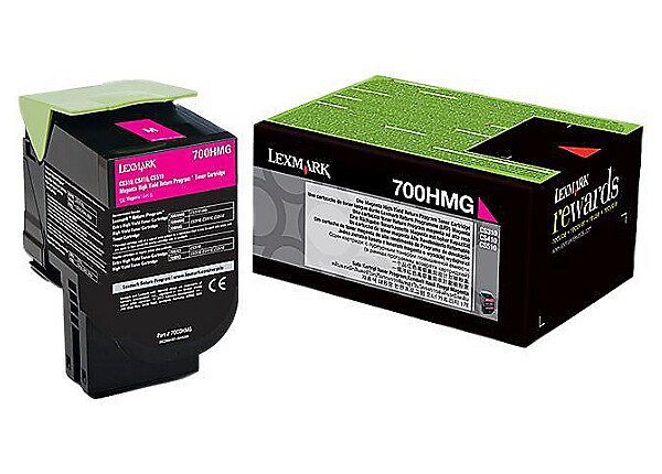 Lexmark 70X High Yield Toner Cartridge - Magenta
