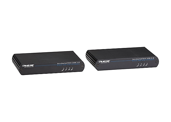 Black Box KVM Extender - DVI-D, USB 2.0, over CATx - KVM / USB extender
