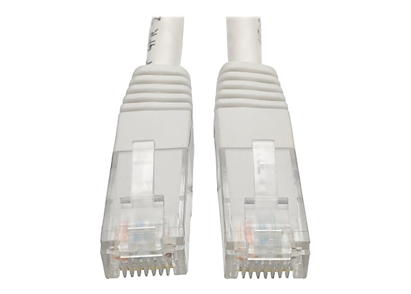 Tripp Lite 2ft Cat6 Gigabit Molded Patch Cable RJ45 M/M 550MHz 24 AWG White